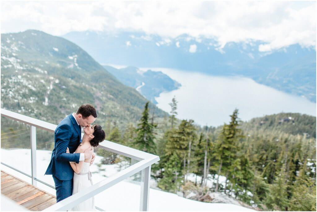 Wedding reception photos.  Spring Wedding in Squamish, BC at the Sea To Sky Gondola