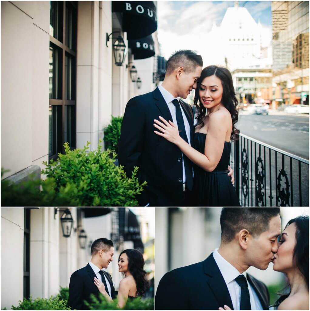 Engagement session at The Vancouver Art Gallery and Whytecliff Park