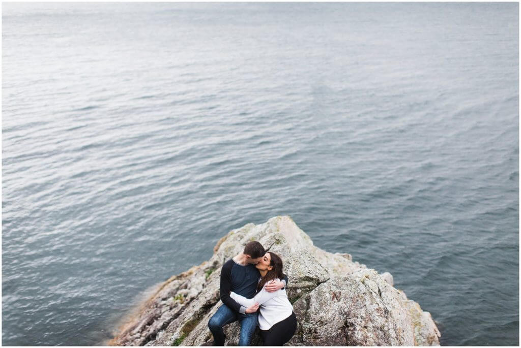 Surprise proposal and engagement photos at whytecliff park in west vancouver.